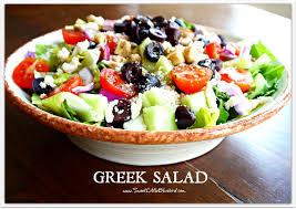 sweet little bluebird greek salad and naan greek pizza