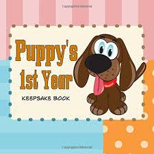 baby 1st year book puppy s year keepsake book create a puppy journal or puppy