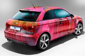 white and pink audi pink audi a1 art car sells for 525 000 at elton john u0027s auction
