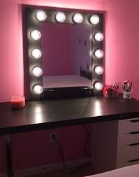 Table Vanity Mirror Vanity Mirror And Table 46 Outstanding For Image For Lighted