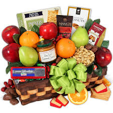 fruit gift orchard s abundance fruit gift basket by gourmetgiftbaskets