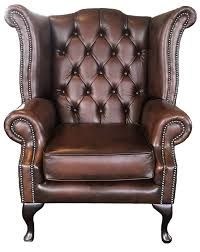Vintage Leather Chesterfield Sofa by Chesterfield Antique Brown Genuine Leather Queen Anne Armchair