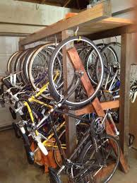 Free Standing Garage Shelves Plans by Tools Diy Wooden Bike Rack Looking For Plans Bicycles Stack