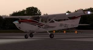 aircraft lights usage using the a2a cessna c182 krdd redding