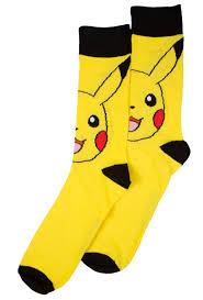 Wu Tang Socks Men U0027s Pokemon Pikachu Crew Socks