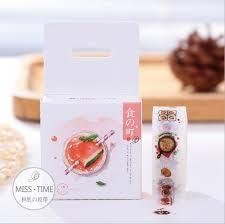 masking cuisine jc306 1 5cm delicious food washi adhesive diy scrapbooking
