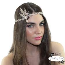 gatsby headband gatsby headpiece pearl rhinestone hair accessory weddings