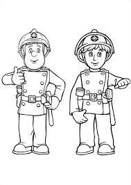 kids fun 38 coloring pages fireman sam