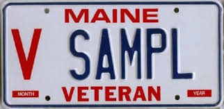 Maine State Vanity Plates Maine Veterans Reminded They Can Get License Plate Decals U2013 Maine News