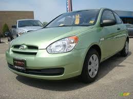 hyundai accent green 2007 apple green hyundai accent gs coupe 28527427 gtcarlot com