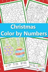 christmas color numbers worksheets christmas colors