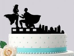superman wedding cake topper superman proposing to wonderwoman wedding cake topper