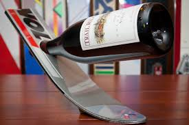 ski wine holder 24 ascension woodcraft