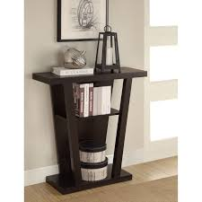 Entrance Console Table Furniture Coaster Furniture Cappuccino Wood Console Table Hayneedle