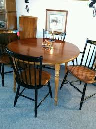 cheap dining table and chairs ebay hitchcock furniture dining table with 2 leaves and 4 chairs ebay