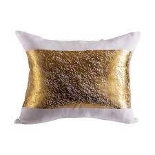Throw Pillows by Metallic Gold Foil White Decorative Throw Pillow By Pyar U0026 Co And