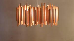 handmade veneer wood lampshade zen doodle inspired modern redwood