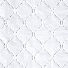 quilted vinyl solid white discount designer fabric fabric
