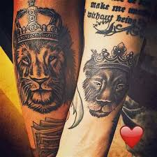 tattoo of queen and king 50 king and queen tattoos for couples herinterest com