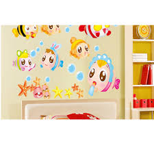 high quality children bathrooms buy cheap children bathrooms lots lovely fish wall stickers bathroom decorate children room cartoon stickers kindergarten decorate bs china