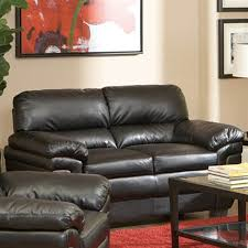 Leather Loveseats Shop Coaster Fine Furniture Fenmore Black Faux Leather Loveseat At