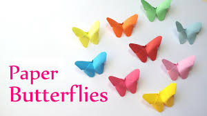 diy crafts paper butterflies very easy innova crafts youtube