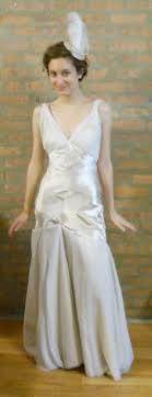 sarah s custom silk 1930s inspired wedding dress with bolero