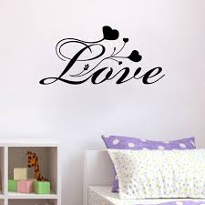 Valentine S Day Living Room Decor by Aliexpress Com Buy Love Heart Flower Vinyl Wall Stickers For