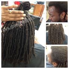 installing extension dreads in short hair braids by bee