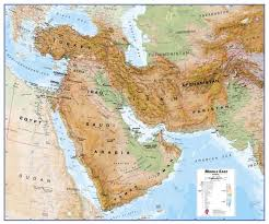 middle east map kazakhstan east wall map physical