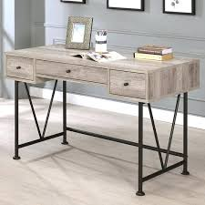 writing desk with drawers writing desk with drawers black metal grey wood home office 3 drawer