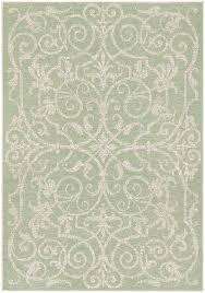 one allium way arnegard ivory light green indoor outdoor area rug