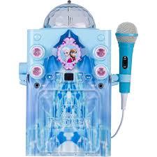 karaoke machine with disco lights frozen ko2 06027 frozen castle karaoke machine disco globe