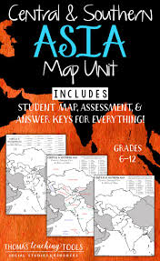 bodies of water list asia map unit central and southern regions with outline map and