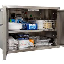30 Inch Kitchen Cabinet by Bbqguys Com Kingston Series 30 Inch Stainless Steel Enclosed