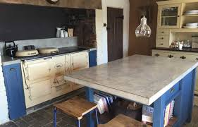 cement countertops kitchen black dining table modern drop ceiling