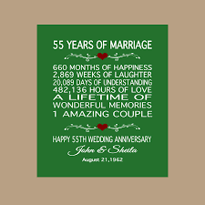 55th wedding anniversary 55th anniversary gift 1963 anniversary gift 55 years