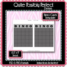 bingo cards template instant download psd and png formats