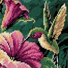 dimensions needlecrafts needlepoint hummingbird drama