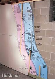 Basements For Dwellings by How To Finish A Basement Wall Concrete Block Walls Basement