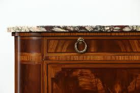 sold marble top paris france signed 1930 vintage sideboard