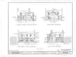 House Plans By Dimensions Lightfoot Cottage Yorktown Virginia Colonial Williamsburg
