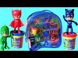 pj masks softee dough blue backpack stamper boys crayons