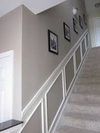a chair rail is a narrow strip of moulding that runs around the