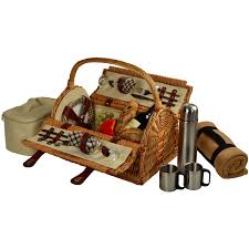 coffee baskets at ascot sussex willow picnic basket with service for 2 coffee