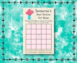 baby shower gift bingo custom printed labels personalized senatorsflowers