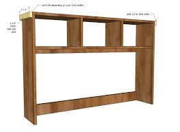 Build A Desk Plans Free by Ana White Schoolhouse Desk Hutch Diy Projects