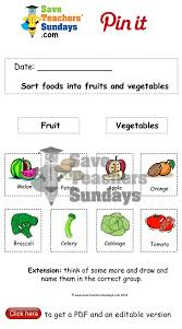 fruit and vegetables artful teaching pinterest worksheets