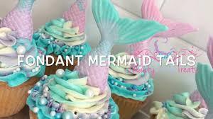 mermaid cupcakes how to make a multi tone fondant mermaid