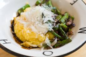 cuisine polenta recipe polenta with asparagus and olives herbivoracious